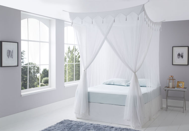 Decorative Box Cotton Mosquito Net Super King Size