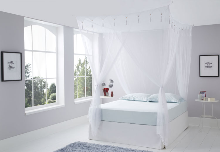 Super King Deluxe Box White Mosquito Net