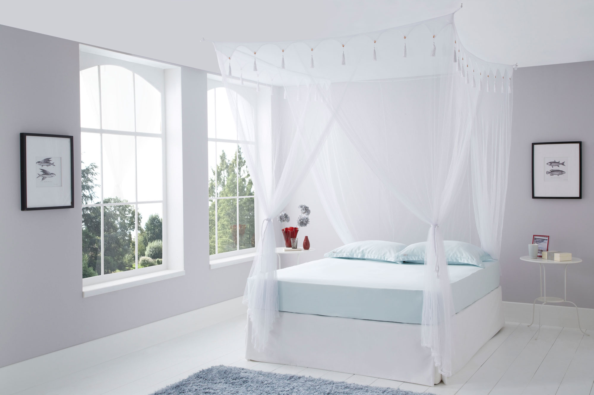 Double Deluxe Box White Mosquito Net Mosquito Nets Online Uk