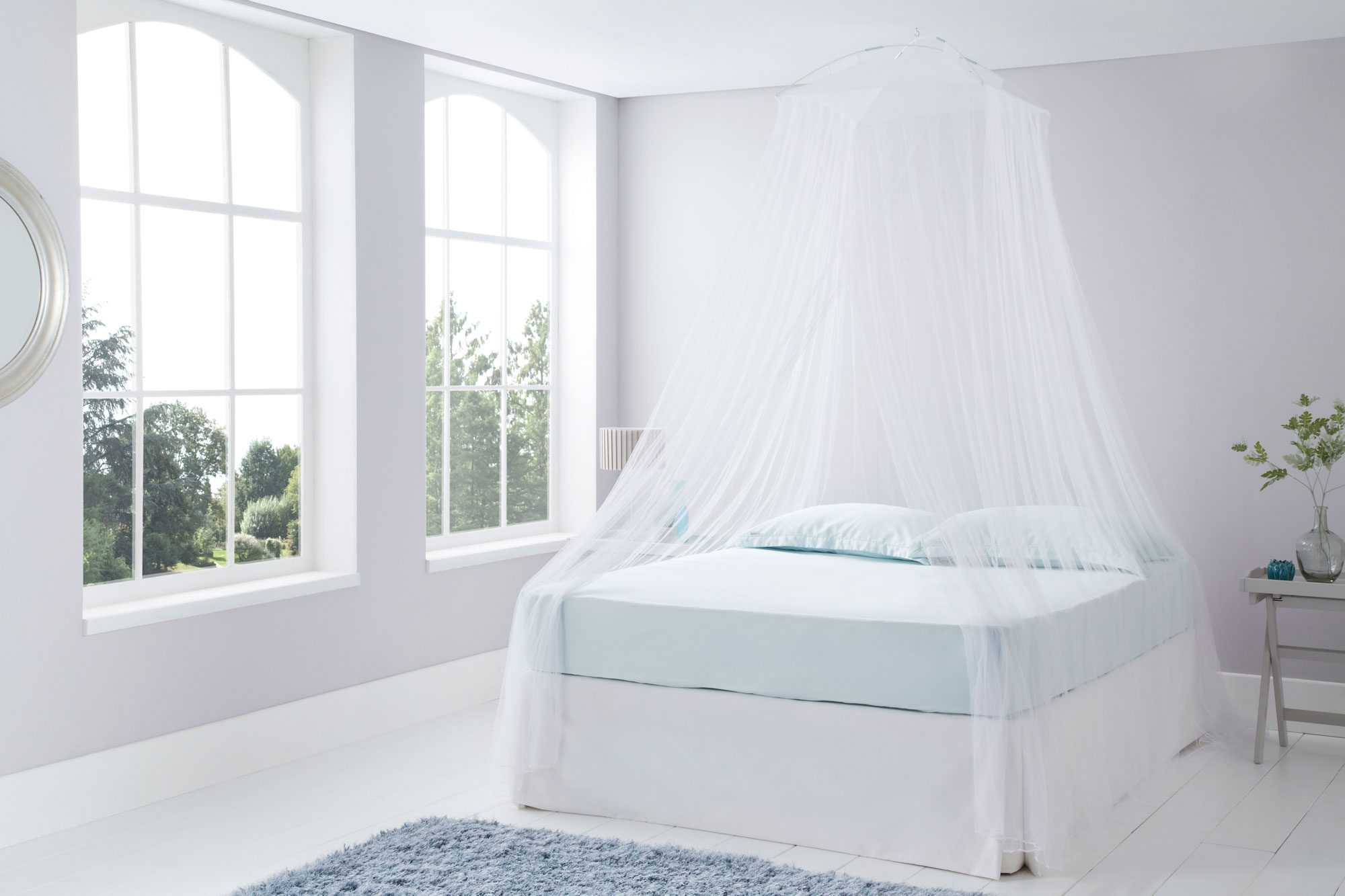 White Bed Canopy resort style white mosquito nets | mosquito nets online uk